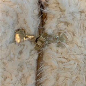 Little Lass Matching Sets - Little Las plaid top + faux fur vest
